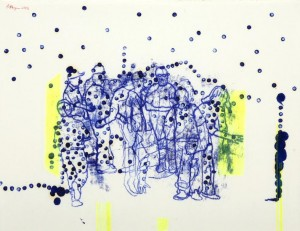 Carbon Group 05, 2003 mixed media on paper 50 x70 cm