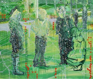Exhibition group No2, 2011 oil and acrylic on linen 168 x195cm