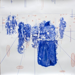 Atonal Group (Cannaregio 10), 2014 mixed media on paper 130 x130cm
