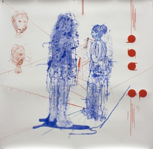 Atonal Group (Cannaregio 7), 2014 mixed media on paper, 130 x130 cm
