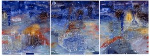 The Melbourne Panels, 2003 oil on linen Three panels 185 x 168cm each